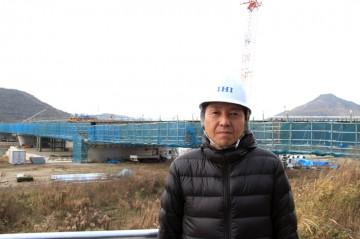 平成25年1月24日建設常任委員会で管内調査 ③新坂越橋(赤穂市)の整備