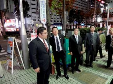 常任委員会で神奈川県警を訪問し、川崎市駅前の街頭防犯カメラを視察