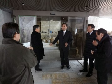 平成26年2月6日(木) 工事中の科学捜査支援センターを視察