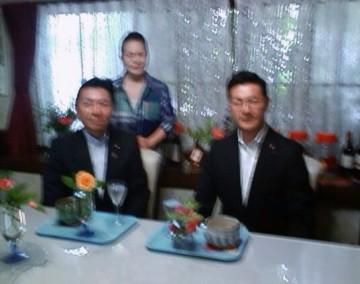 平成26年6月1日(日) 濱村衆議院議員と花柳楽風先生のお宅訪問
