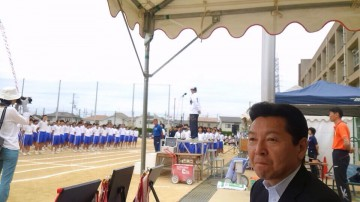 平成26年9月20日(土) 別府中学校の運動会に参加