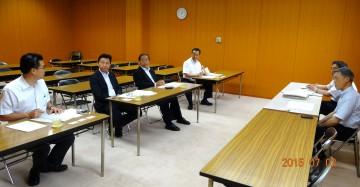 平成27年7月2日(木) 熊本県庁で 「熊本県版タイムライン」 「熊本県高校生県議会」 「世界遺産指定への取組」 「超小型モビリティ社会実験」 などについて
