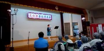 平成27年10月25日(日) 加古川西公民館発表会に出席