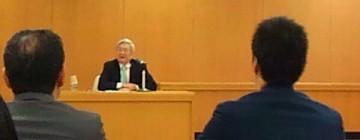平成27年12月17日(木) 五百旗頭 ひょうご震災記念21世紀研究機構理事長をお迎えして、県議会で研修会
