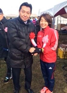 平成28年12月23日(祝・金) 加古川マラソン大会で リオオリンピックに出場した田中選手と記念撮影