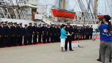 平成29年10年12日(木) 播磨町町制施行55周年記念 日本丸入港式典に出席