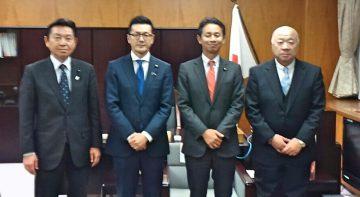 平成29年12月1日(金) 食肉組合の中尾理事長と谷合農林水産副大臣に要望