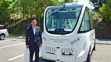 平成30年5月21日(月) 播磨科学公園都市で行われている自動運転の実証実験を視察