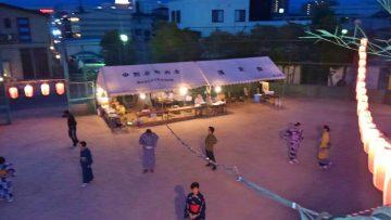 平成30年8月12日(日) 中別府町内会の盆踊りに参加