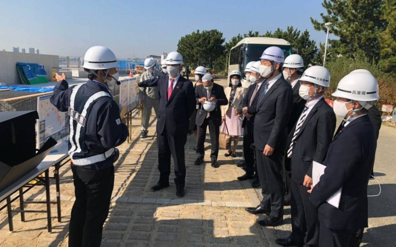2020年11月17日(火) 南芦屋浜地区高潮対策工場を視察
