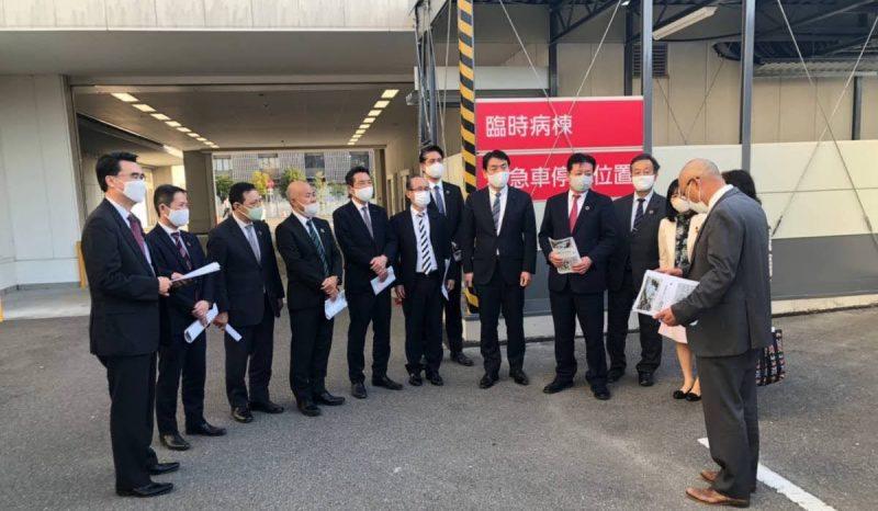 2020年11月17日(火) 神戸市立医療センター中央市民病院の新型コロナ仮設入院病棟を視察